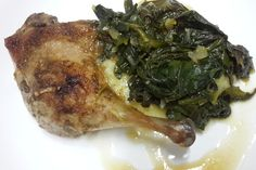 Spinach in Orange Sauce with a Duck recipe #spinach