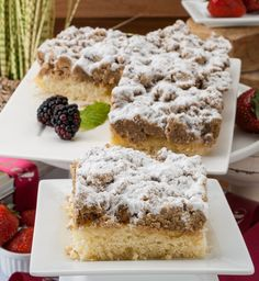 Made from an old family recipe, our delicious crumb cake is moist base and large pieces of crumb topping which is not too sweet. Old Fashioned Crumb Cake lives up to its name freshly baked and handmade, this cake is sure to please even the most selective foodies.Topped with powdered sugar, good to the last bite! Perfect for dessert, pleasing guests or just fo