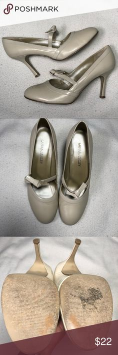 """Mary Jane Pumps by Laura Ashley Cream-colored Mary-Jane style pumps. 3"""" heel, leather upper, and in excellent condition with very little signs of wear. Laura Ashley Shoes Heels"""