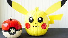 Calabazas decoradas de Pokemon para Halloween