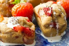 Healthy, gluten-free banana bread with strawberries. A delicious, no-sugar treat that's perfect for breakfast, brunch, and midnight snacking!