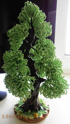 Seed Bead Flowers, Beaded Flowers, Beaded Crafts, Beaded Ornaments, Ikebana, Ming Tree, Wire Tree Sculpture, Crystal Tree, Bonsai Art