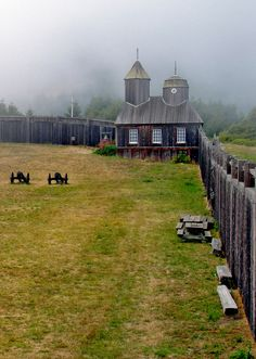 Fort Ross, California. Fort Ross is a former Russian establishment on the west coast of North America in what is now Sonoma County, California, in the United States. It was the hub of the southernmost Russian settlements in North America between 1812 to 1842. It has been the subject of archaeological investigation, and is a California Historical Landmark, a National Historic Landmark, and on the National Register of Historic Places. California's Fort Ross State Historic Park.