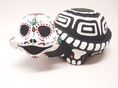 Day of the Dead (dia de los muertos) Garden ceramic Turtle. $35.00, via Etsy.