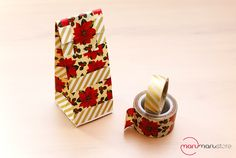 Washi Tape Christmas / Xmas / Navidad Washi Tape Envelope Gift Bag
