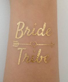 Metallic Gold Flash Bride Tribe Tattoos Waterproof by AlfandNoop