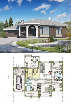House Plans For Sale, House Floor Plans, Closed Kitchen Design, Exterior Design, Interior And Exterior, Interior Design Living Room Warm, Sims 4 House Design, Fantasy House, Sims 4 Houses
