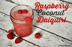 Best daiquiri recipe EVER! Perfect for a girls' night in: raspberry coconut daiquiri (with some tapas, and a chick flick! Fun Drinks Alcohol, Yummy Drinks, Alcoholic Drinks, Beverages, Best Daiquiri Recipe, Awesome French Toast Recipe, Coconut Rum, Frozen Drinks, Classic Cocktails