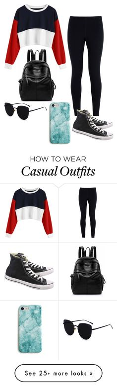 """Casual and affordable look"" by bellasydney on Polyvore featuring NIKE, Recover and Converse"