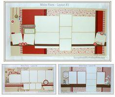 Scrapbooking Kits: Scrapbook Layout Cutting Guides #CTMHWhitePines
