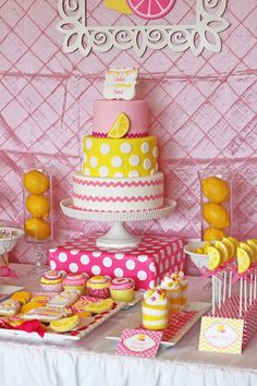 Pink Lemonade themed birthday party via Kara's Party Ideas