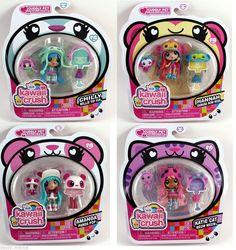 Kawaii Crush Lot of 4 Katie Cat Amanda Hannah Chilly New in Package  #KawaiiCrush