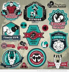 overwrought. but some inspiration. 34 Premium Vectors Vintage Bicycles and Fitness Logos and Labels - Web Design Blog