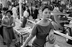 Woman in westerners clothes, Ginza, Tokyo, 1958 by Marc Riboud