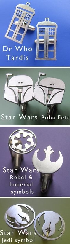 Father's Day is a week away, and these nerdy Star Wars & Dr Who Cufflinks would make the ultimate alternative to a bad tie!