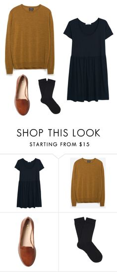 """black dress outfit 2"" by jessica-rose-lentz on Polyvore featuring MANGO, Zara, Office and Falke"