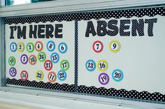 Use Magnetic Accents & Magnetic Letters to keep track of classroom…