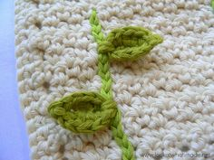 Lookatwhatimade Flower Lovie 5 This Little Leaf Crochet PHOTO PATTERN