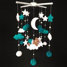 Nursery Mobile - Felt Baby Mobile - Baby Room - Crib Mobile - Baby Girl Mobile - Star Mobile - Baby Boy Mobile - Felt Nursery Mobile by BimbaUA on Etsy https://www.etsy.com/listing/571580683/nursery-mobile-felt-baby-mobile-baby