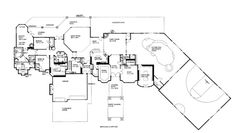 House plans large on pinterest house plans square for How many square feet is a basketball court