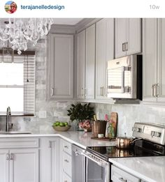 Wow This Kitchen Is Stunning Love The Gray Cabinets