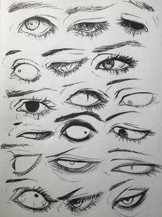 Drawings, Manga, Anime, Eyes, 18 designs to enhance your drawing - art - Drawings Manga Anime Eyes 18 designs to enhance your drawing - Anatomy Drawing, Manga Drawing, Figure Drawing, Manga Art, How To Draw Anime Eyes, Comic Book Drawing, Drawing Practice, Drawing Tips, Digital Painting Tutorials