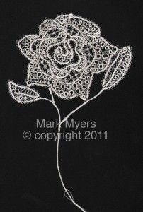 Rose with tatting