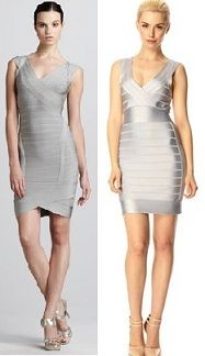 Herve Leger bandage dress @ 1350.00$ vs French Connection spotlight dress 148.00$. Can you tell the diff?