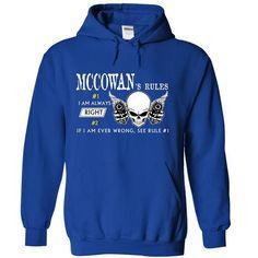 MCCOWAN RULE\S Team - #gift ideas #coworker gift. GET YOURS => https://www.sunfrog.com/Valentines/MCCOWAN-RULES-Team-55941849-Guys.html?68278