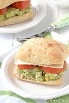 Pesto Egg Salad by motherthyme #Sandwich #Egg_Salad #Pesto