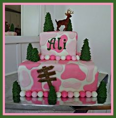 pink camo cake By Generations-creations on CakeCentral.com