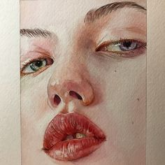 Ideas For Painting Inspiration Acrylic Portrait Watercolor Artwork, Watercolor Portraits, Watercolor Illustration, Watercolor Portrait Tutorial, Art Sketches, Art Drawings, Acrylic Painting Inspiration, Kunst Poster, Art Moderne