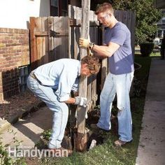 Here's how to remove a rotten fence post quickly and easily with a shovel and sledge hammer and set the replacement post so it won't rot again.