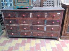 Wonderful Indian recycled chest of drawers.