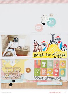 #papercraft #Scrapbook #layout.  Draw // main only by marcypenner at @studio_calico