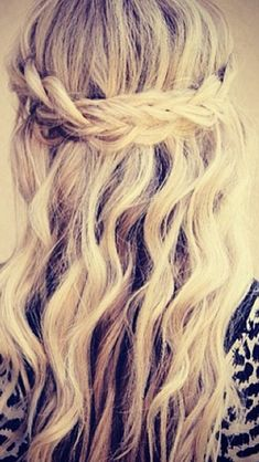 Braided hair- half up/half down style I'm liking the braid but would have to see what it looked like on me