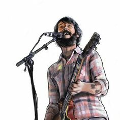 Band of Horses, vector illustration by Pedrita Parker #illustration #music #bandofhorses #pedritaparker