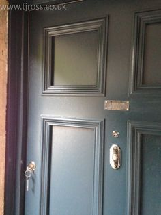 Solid Panelled Entrance Door in client's choice of colour. External door, painted door Farrow & Ball paint, RAL colours