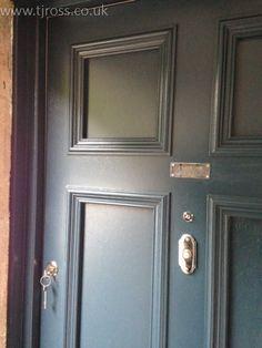 Solid Panelled Entrance Door in clientu0027s choice of colour. External door painted door Farrow & External Door yellow door Bespoke Door TJ Ross   External Doors ... pezcame.com