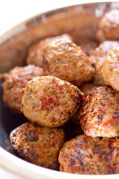 Meatballs made with ricotta and Parmesan