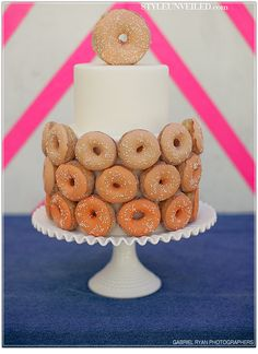 Retro Wedding Cake - Doughnut Wedding Cake www.STYLEUNVEILED.com