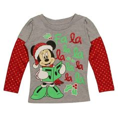 Minnie Mouse Holiday Long Sleeve 2fer Toddler
