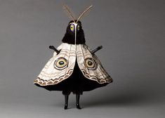 "Untitled (Moth man) from the ""Creatures"" series by English artist Cat Johnston. Photo by Christina Solomons. via Christina Solomons Photography Character Inspiration, Character Design, Arte Obscura, Costume Design, Art Inspo, Puppets, Wearable Art, Art Reference, Art Dolls"