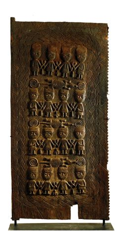 Africa | Palace or Royal Court Door from the Yoruba people from Kwara state in Western Nigeria | Wood | ca. 1900 - 1933