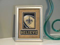 New Orleans Saints 5x7 BELIEVE Authentic Playing Card Display by SinCityDisplays