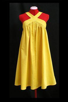 sunny yellow tent dress