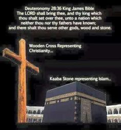JERM:2:27..Saying to a stock(wood) thou art my father and to a stone thou hast brought me forth...Hmm...How about that?