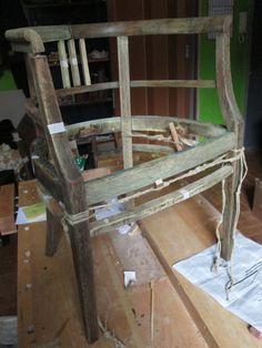 Poltroncina in legno 800: incordatura