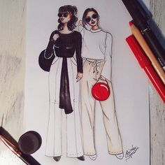 @tudoorna #draw #drawing #fashion #love #inlove #fashionillustration #illustration #curitiba #tudoorna #tudoornailustra #irmasalcantara #art #arte #croqui #handmade #lookdodia #lookoftheday #fashion4arts