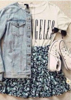 27 Hipster School Outfits For Those Sunny Days - Summer Fashion Mode Lookbook, Casual Outfits, Fashion Outfits, Hipster Outfits For Teens, Converse Fashion, Dress Casual, Church Outfit For Teens, Spring Outfits For Teen Girls, Teenage Outfits